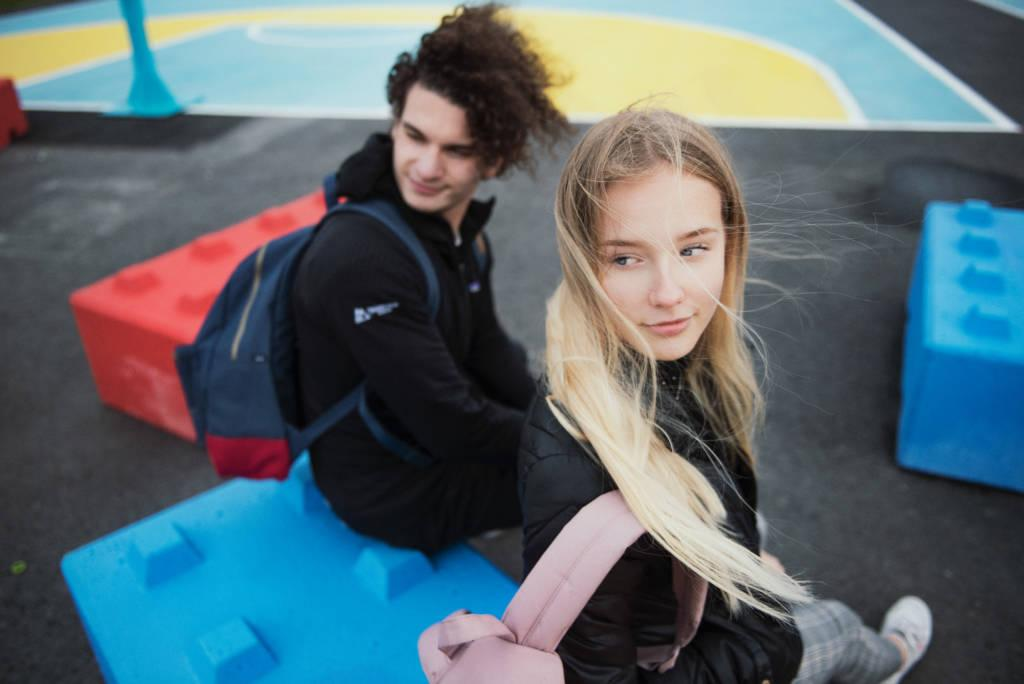 girl and boy in tampere finland